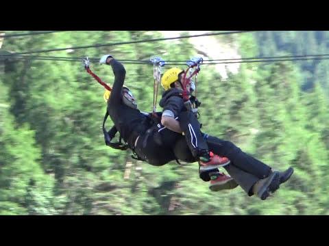 Parco Avventura Mont Blanc: Carrucola Sull'Orrido