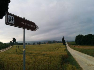 Mappa della Via Francigena in bicicletta