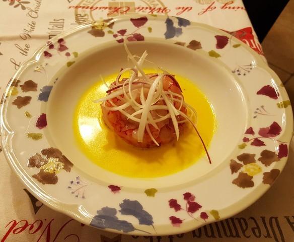 gamberi-salsa-tuorlo-uovo-ricetta-cannavacciuolo