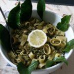 Calamarata con vongole, friarelli al sapore di limone
